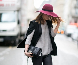 burgundy, floppy hat, and hat image