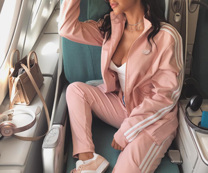adidas, pink, and love image