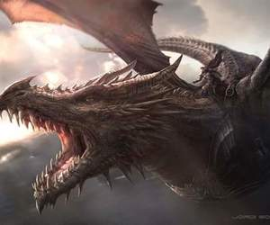 dragon, game of thrones, and drawing image