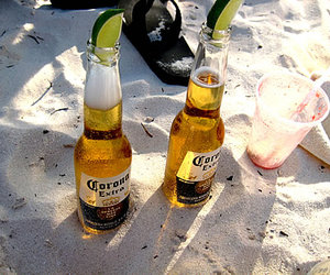 beer, beach, and lime image