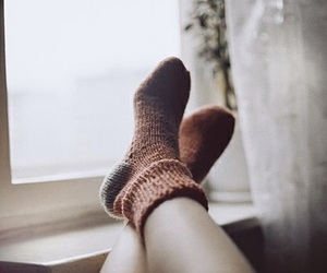 socks, vintage, and winter image