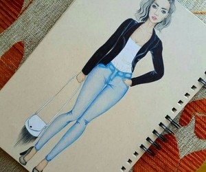 draw, fashion, and girl image