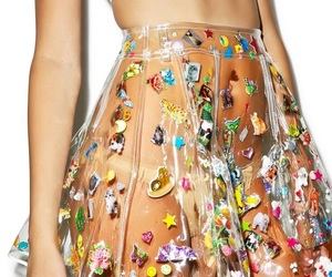 fashion, skirt, and sticker image
