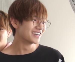 glasses, smile, and v image