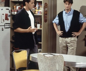 joey tribbiani, 90s, and chandler bing image