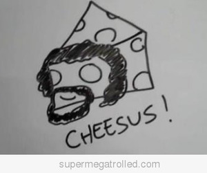cheese, cheesus, and funny image