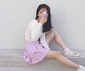 aesthetic, outfit goals, and pink image