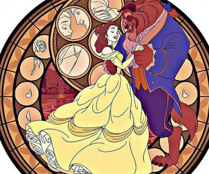 beast, couples, and disney image