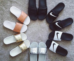 nike, shoes, and slides image