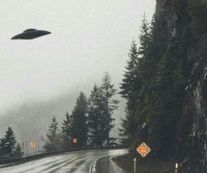 rain, road, and alien image