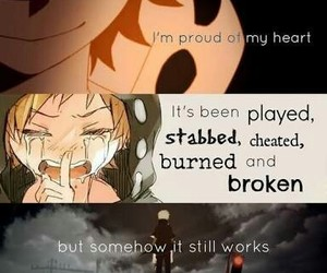 anime, quote, and heart image