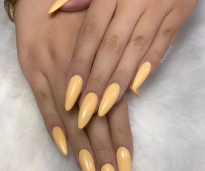gold, luxury, and nails image