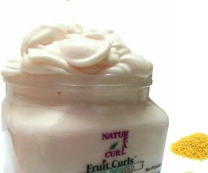 curls, fruit, and product image