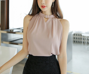 blouse, asian fashion, and kfashion image