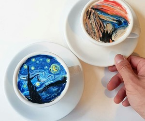 art, coffee, and drinks image
