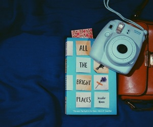 bags, blue, and book image