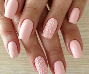 nails, pink, and rose image