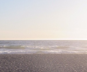 beach, sand, and sunset image