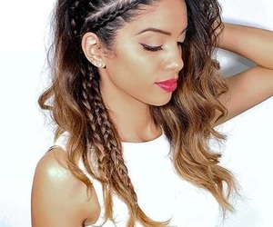 hair, hairstyle, and braids image