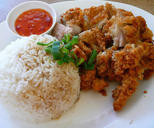food, Chicken, and rice image