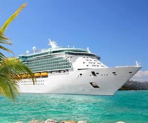 beach, beautiful, and cruise image