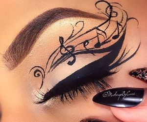 beauty, make up, and eye image