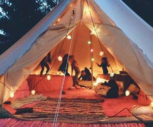 camp, hippie, and nightlife image