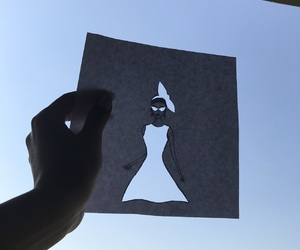 art, paper cutting, and sky image