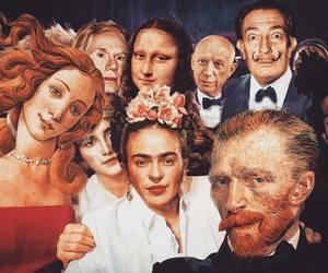 art, van gogh, and selfie image