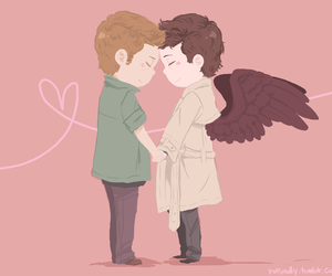 destiel, supernatural, and cute image