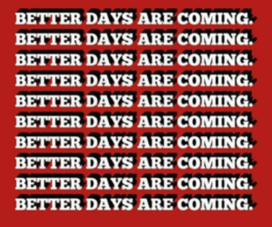 better days, red, and wallpaper image