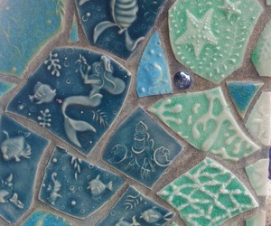 blue, green, and tile image