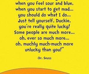 quote, lucky, and dr seuss image