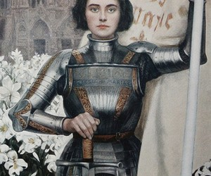 art, joan of arc, and woman image