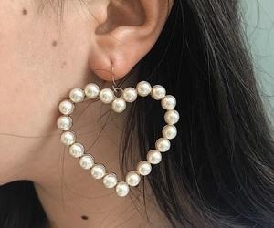 girl, heart, and earrings image