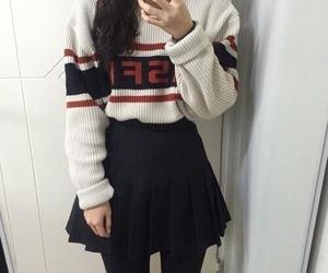 girl, outfit, and kfashion image