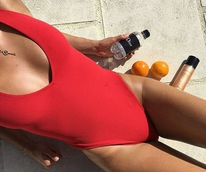 red, summer, and body image