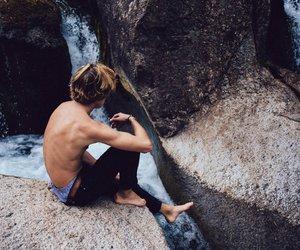 boy, photography, and landscape image