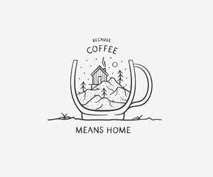 art, coffee, and home image