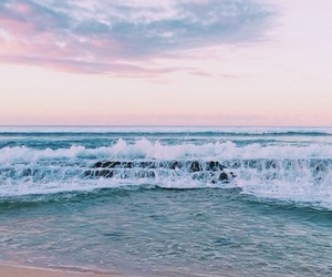 ocean, beach, and waves image