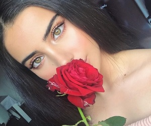 rose, girl, and beauty image