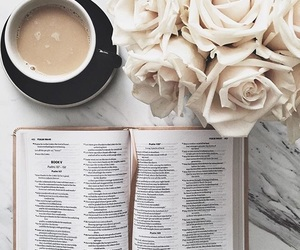 coffee, bible, and book image