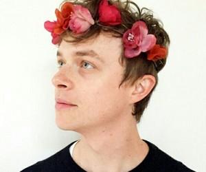 dane dehaan and flowers image