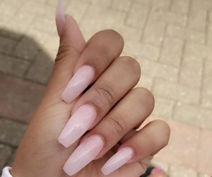clear, nails, and pink image