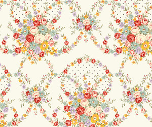 flowers, background, and pattern image