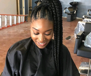 braids, ponytail, and protective style image