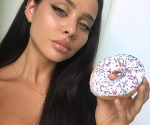 donuts, kristy lani, and girls image