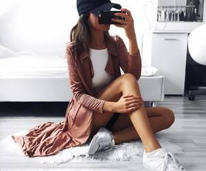 fashion, girl, and mood image