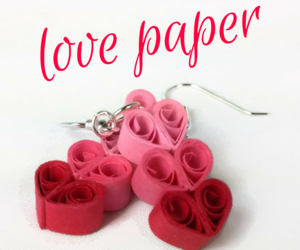 earrings, handmade jewelry, and Paper image