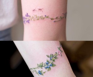 flowers, tattoo, and korean tattoo image